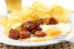 Traditional portuguese pork sausage Stock Photography