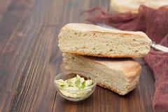 Traditional portuguese potato bread of Madeira - bolo de caco Royalty Free Stock Photos
