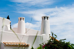 Traditional Portuguese rooftop Algarve, Sao Rafael Stock Images
