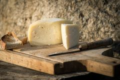 Traditional Portuguese soft cow cheese Royalty Free Stock Photo