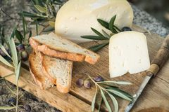 Traditional Portuguese soft cow cheese Stock Photography