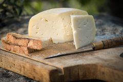 Traditional Portuguese soft cow cheese Stock Photos
