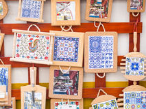 Traditional Portuguese souvenirs sold in Obidos. Portugal Stock Images