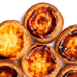 Traditional portuguese specialty tart name Nata isolated on whit Stock Image