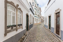 Traditional Portuguese streets of Tavira. Stock Images