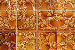 Traditional portuguese tiles background Royalty Free Stock Images
