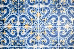 Traditional Portuguese tiles Lisbon royalty free stock photo