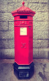 Traditional post box in London Stock Photography