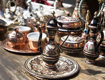 Traditional pot. Traditional tea, coffee pot at a marketplace in Sarajevo, Bosnia and Herzegovina Stock Image