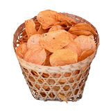 Traditional potato chips. Indonesia, Java. Royalty Free Stock Photo