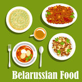 Traditional potato dishes of belarusian cuisine Royalty Free Stock Image