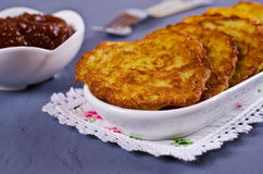 Traditional potato pancakes Royalty Free Stock Photos