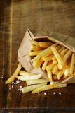 Traditional potatoes  French fries with salt Royalty Free Stock Photo