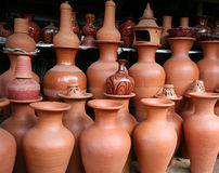 Traditional pots stock image