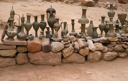 Traditional pots. Petra, Jordan Royalty Free Stock Image