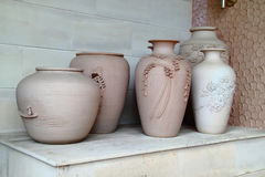 Traditional Pottery. As a decorative front porch tourism hotel Royalty Free Stock Photo