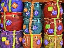 Ceramic traditional colored pottery, Romania Stock Image