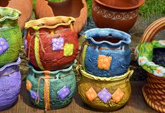 Traditional pottery in Romania Royalty Free Stock Photo