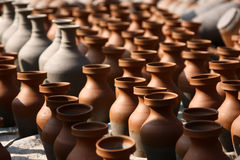 Traditional pottery craftsmanship Stock Photos