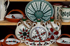 Traditional pottery decorated Stock Image