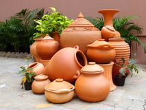 Traditional pottery gardening Royalty Free Stock Photos