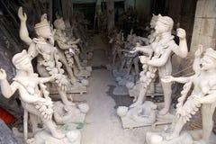 Traditional pottery in Kumortuli, Kolkata, India Royalty Free Stock Photos