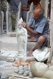 Traditional pottery in Kumortuli, Kolkata, India Stock Photo