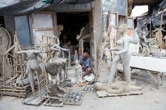 Traditional pottery in Kumortuli, Kolkata, India Royalty Free Stock Photo