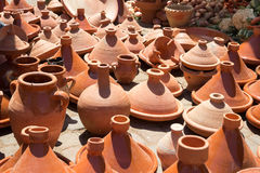 Traditional pottery Morocco Royalty Free Stock Photos