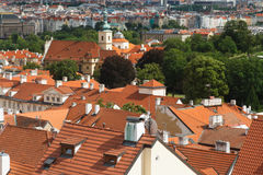 Traditional Prague house top view. Czech Royalty Free Stock Image