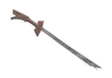 Traditional  primitive sword isolated. Stock Photo