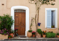 Traditional provencal home entrance Stock Photo