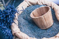 Full Lavender Counter. Traditional Provence Market - Full Lavender Counter royalty free stock photography