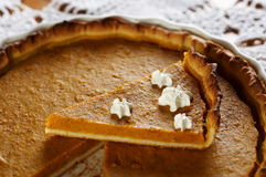 Traditional Pumpkin pie Stock Photography