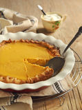 Traditional Pumpkin Pie Royalty Free Stock Image
