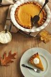 Traditional Pumpkin Pie Stock Image