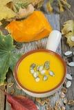 Traditional pumpkin soup. Stock Photo