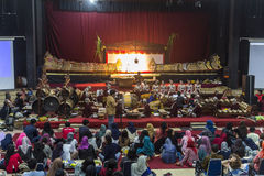 Traditional puppet show in Yogyakarta Stock Photography