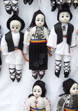 Traditional puppets. Puppets in Romanian traditional costume at Village Museum Royalty Free Stock Images