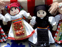 Traditional puppets. Puppets in Romanian traditional costume at Village Museum stock photography