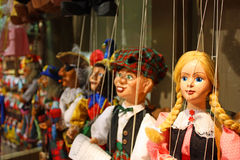 Traditional puppets - the young lady Royalty Free Stock Images