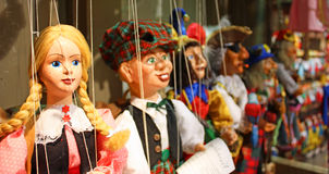Traditional puppets - the young lady Royalty Free Stock Photos