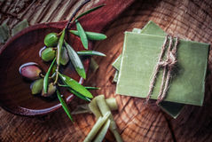 Traditional pure olive oil soap from greece Royalty Free Stock Images