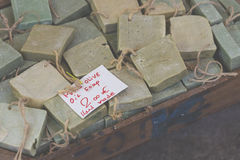 Traditional pure olive oil soap from greece Stock Images