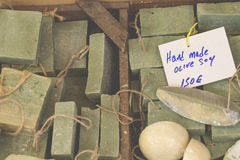 Traditional pure olive oil soap from greece.  Royalty Free Stock Photos