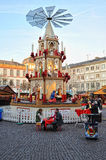 Traditional pyramide in Christmas market - Germany Royalty Free Stock Image