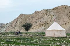 Nomad school in Zagros mountains. royalty free stock image