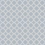 Traditional quatrefoil lattice pattern outline stock illustration