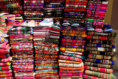 Traditional quechua colorful textil Stock Photography