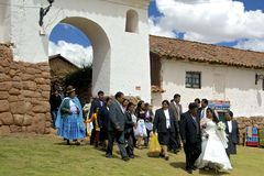 Traditional Quechua Wedding. Peru